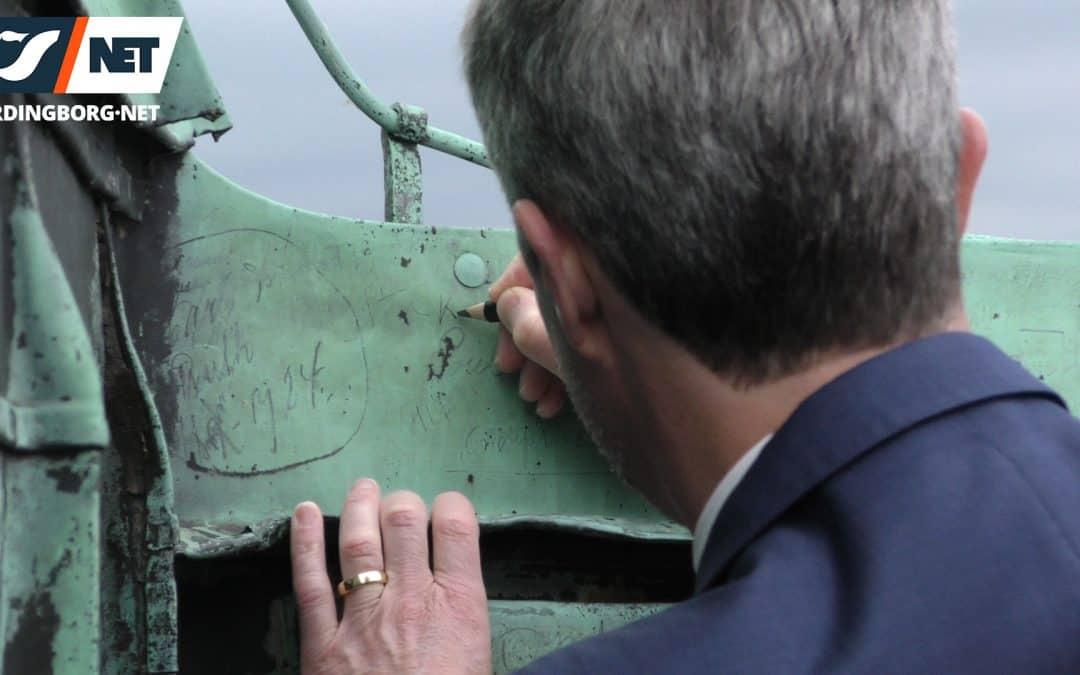 Kronprins Frederik besøgte Gåsetårnet og skrev sit navn